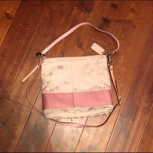 Coach baby pink messenger bag